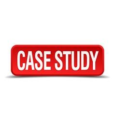 Case study red three-dimensional square button vector