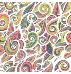 Curl abstract pattern with multicolored waves vector image
