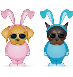 easter dogs vector image vector image