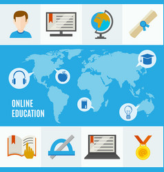 elearning flat concept vector image