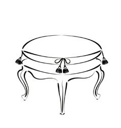 Elegant sketched stool banquette vector