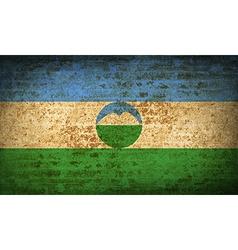 Flags kabardinobalkaria with dirty paper texture vector