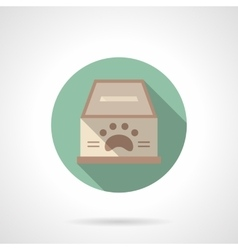 Fundraising for animal shelter flat icon vector