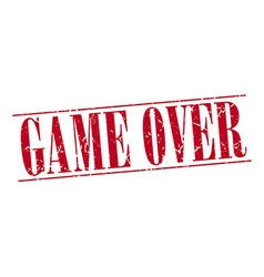 Game over red grunge vintage stamp isolated on vector