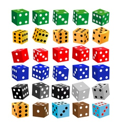 gaming dice of different colors vector image
