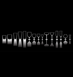 glass vector image