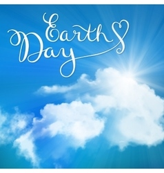 Happy earth day handmade calligraphy vector image vector image