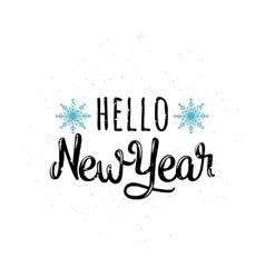 Hello new year vector image vector image