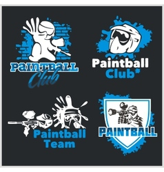 Paintball emblem and logo - set vector image
