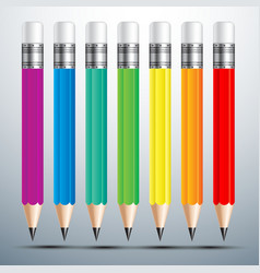 Pencil set 2 vector image vector image