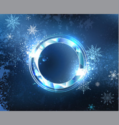 round frost banner vector image vector image