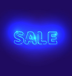 sale white neon electric letters vector image vector image