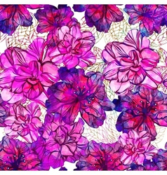 Seamless abstract flowers pattern eps10 vector
