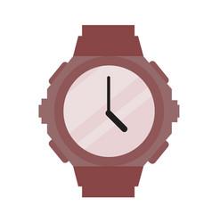 sporty modern wristwatch vector image