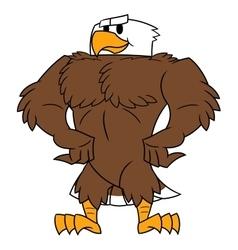 Strong eagle posing vector