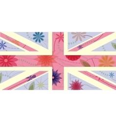 Vintage UK flag vector image vector image