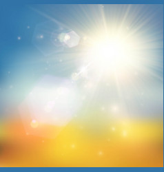 yellow and blue summer background vector image vector image