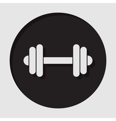 Information icon - dumbbell vector