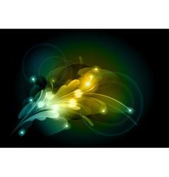 abstract flower corner vector image