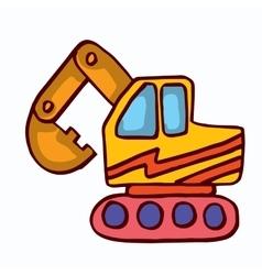 Big excavator cartoon collection stock vector image