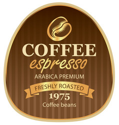 Design label for coffee beans in baroque style vector
