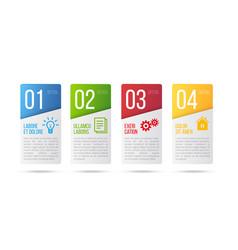 5 steps process infographics card design vector