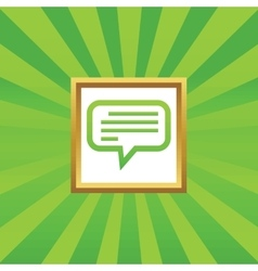 Text message picture icon vector