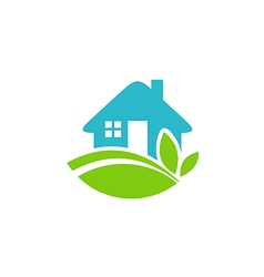 Green house realty ecology logo vector