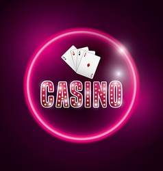 Casino gambling concept vector