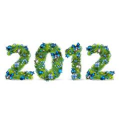 2012 christmas tree font vector