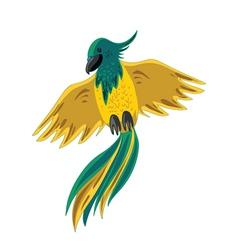 yellow-green parrot vector image