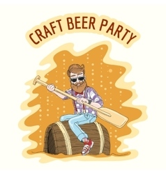 Craft beer party vector