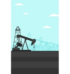Background of oil derrick vector