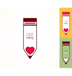 Writing hobby love to write concept pencil icon vector