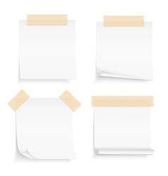 Paper with Tape vector image