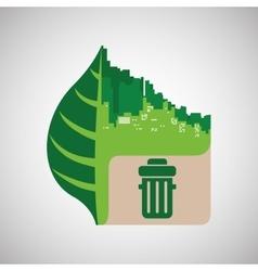 Eco design green icon isolated vector