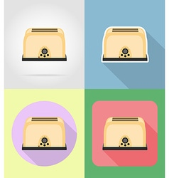 household appliances for kitchen 05 vector image