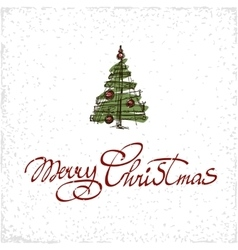 Merry christmas hand lettering isolated on white vector