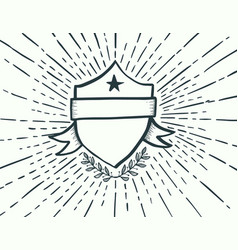 badge drawn style vector image vector image