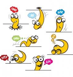 cartoon things vector image