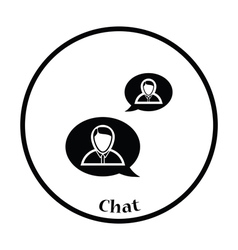 Chating businessmen icon vector image vector image