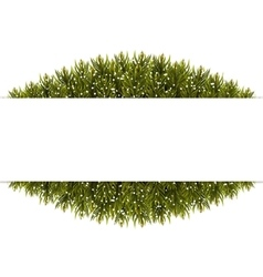 Christmas Banner Frame made of fir branches vector image vector image