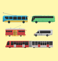 city transport public industry flat vector image vector image