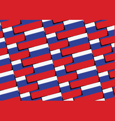 Grunge russia flag or banner vector