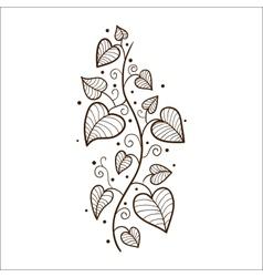 Heart leaves border vector