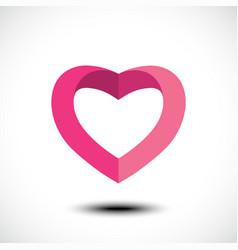 heart shape symbol design vector image vector image