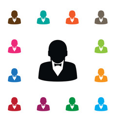 Isolated businessman icon human element vector