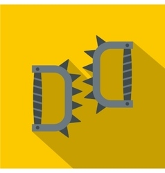 Japanese knuckles with spikes icon flat style vector