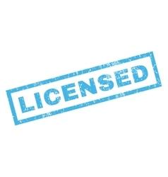 Licensed rubber stamp vector