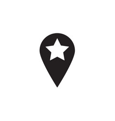 Location solid icon pin sign map pointer vector